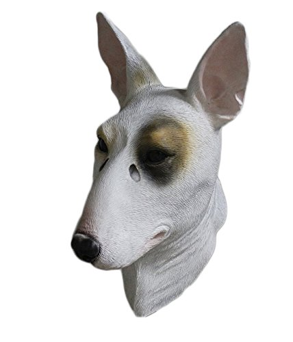 Dog Mask Halloween Evil Latex Doberman Fancy Dress Resident Canine Horror Mask ()