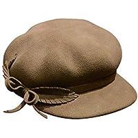 Easy Go Shopping Sombrero de Punto de Lana de Lana de Punto Perlas para  Mujer Mujer d100f255e0a8