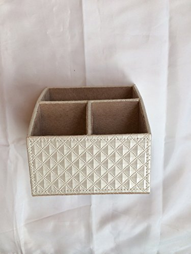 new-cream-makeup-brush-holder-desk-organiser-remote-control-storage-box