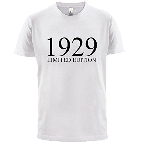 1929 Limierte Auflage / Limited Edition - 88. Geburtstag - Herren T-Shirt - 13 Farben Weiß