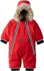Canada Goose Baby Lamb Snowsuit, Red, 0-3 Color: Red Size: 0-3 Nourrisson, bébé, enfant