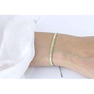 Textilarmband Tubes, 925 Silber vergoldet