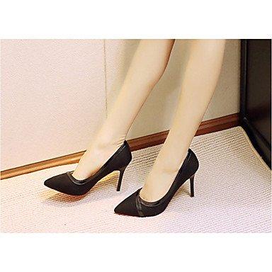 Talloni delle donne Primavera Comfort PU esterna tacco a spillo Nero Rosa Cammello Walking Black