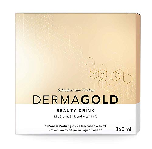 ATRO DermaGold, 1-Monatspackung (30 x 12 ml), Beauty Collagen mit VERISOL Schönheits-Drink