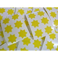 "25mm (1"") Star Shape Colour Code Stickers - Packs of 90 Large Coloured Stars Sticky Labels - 32 Colours Available"