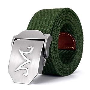 CHOUBAGUAI Gürtel Canvas Belt Strong Buckle Militärgürtel Army Tactical Belt Für Männer Und Frauen Casual Jeans Gürtel