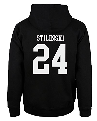 Shallgood felpa uomo con cappuccio pullover cotone casual sweatshirt nero stilinski 24 eu m