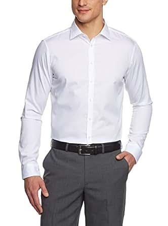 Jacques Britt Herren Businesshemd Gr. Small, Weiß - Weiß