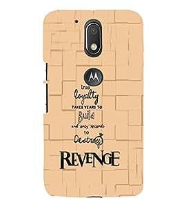 PrintVisa Quotes & Messages 3D Hard Polycarbonate Designer Back Case Cover for Motorola Moto G4 Plus