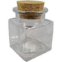 12 frascos de vidrio. tapón de corcho