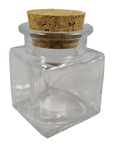 24 pz barattolo vetro vasetto portaconfetti quadrato tappo in sughero bomboniera