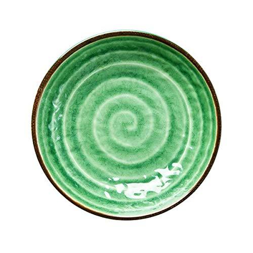 Rice Malamin Schüssel Groß Swirl Design - Grün (Große Schüssel Melamin)