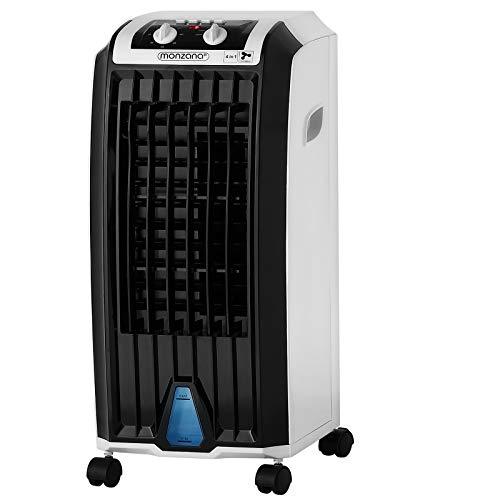 Monzana Luftbefeuchter 4in1 7 L Tank Timer 3 Stufen Mobiles Klimagerät Ventilator Klimaanlage Ionisator Luftkühler
