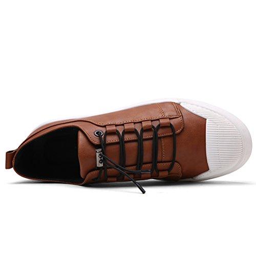 Vogstyle Uomo Scarpe da Ginnastica Basse Classic Scarpe Sportive Outdoor Marrone