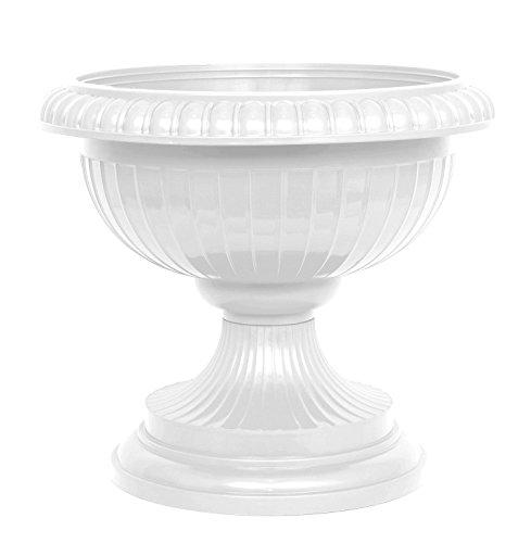 Pflanzkübel Blumenspindel Pflanzschale Euro ∅41cm Weiß