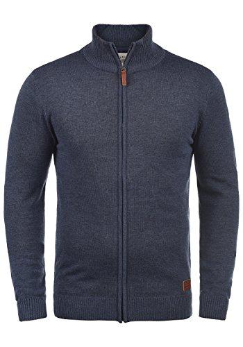 BLEND Norman Herren Strickjacke Cardigan aus hochwertiger Baumwoll-Mischung, Größe:L, Farbe:Navy (70230)