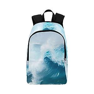 Gran Ola Oceánica en la Playa Mochila de Viaje Mochila Informal Colegio Escuela Mochila para Hombres Y Mujeres