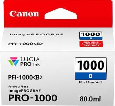 Canon PFI-1000 B original Tintenpatrone  Azul para Impresora Fotográfica PRO-1000 (De Fotos Impresoras)