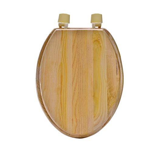 Massivholz Wc sitze Abs-scharniere Längliche Wc deckel Langsam-close Heavy-duty Antimikrobielle Wc sitze Einfache installation und reinigung-V-Form (Längliche Holz-wc-sitz Schwarz)