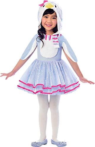 Fancy Me Mädchen niedlich Winter blau Pinguin Tier Vogel Karneval Festival Welttag des buches-Tage-Woche Kostüm Kleid Outfit 2-8 Jahre - 4-6 ()