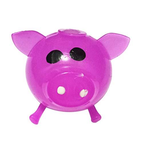 sam Dekompression Creme Duftenden Groß Squishy Spielzeug Squeeze Spielzeug,1 stücke Jello Schwein Nette Anti Stress Splat Wasser Schwein Ball Vent Spielzeug Venting klebrig ()