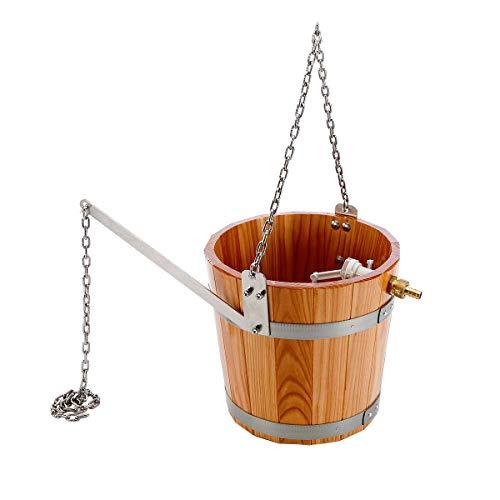 eliga Schwalleimer aus Holz mit Kette