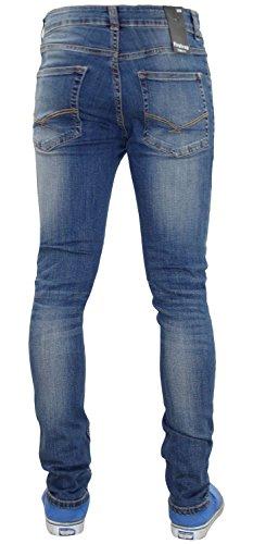 Pantalons de denim en coton pour hommes New Firetrap Deadly Skinny Jeans Dark Wash