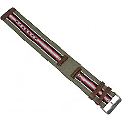 s. Oliver Pad Watch Strap Leather/Textile Band 18 mm/So 1295 LQ