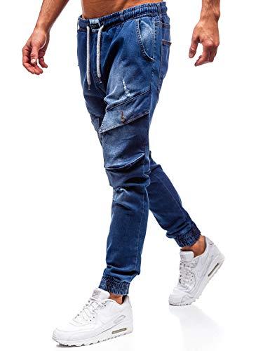 BOLF Herren Jeanshose Jogger Denim Street Style Otantik 2048 Blau S [6F6] | 05902646983127