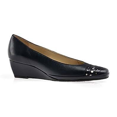 Van Dal Pacifica Womens Wedge Heel Court Shoes Marine Navy 5.5