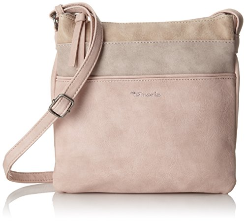 Tamaris Damen Khema Crossbody Bag Umhängetasche, Pink (Rose Comb.), 2x24x25 cm -