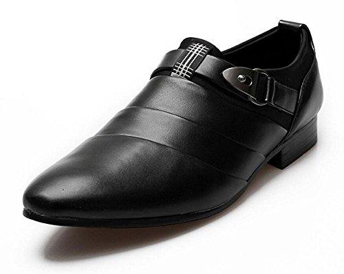 SHIXR Chaussures Casual Homme Chaussures en cuir Pointed britannique Styliste Tendance Tendance Augmentation Chaussures Mariage Chaussures Blanc Noir Marron Black