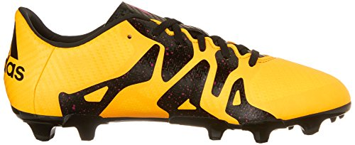 Adidas bambini X 15.3 Fg/ag J Calcio Cleat Gold/Black/Shock Pink