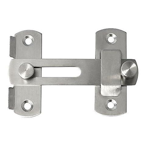 Sayayo Ems9001loquets de porte en acier inoxydable pour animal domestique Gate-latch Sécurité Verrou de porte, finition brossée