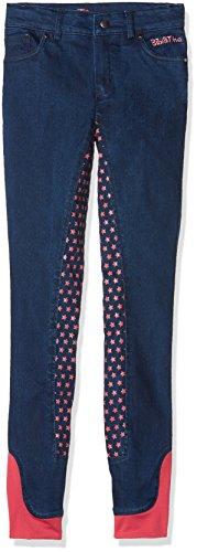 HKM Erwachsene Reitjeans-Bibi&Tina Tohuwabohu-Silikon-Vollbesatz6100 jeansblau128 Hose, 6100 Jeansblau, 128