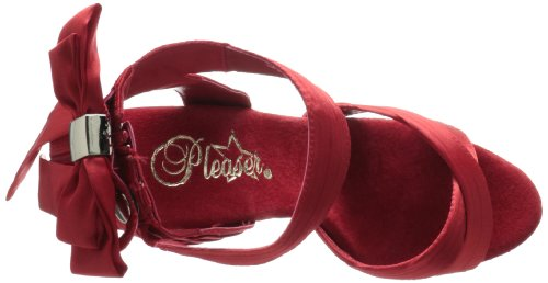 Pleaser Delight-668, Sandales  Bout ouvert femme Rot (Rot (Red Satin/Red))
