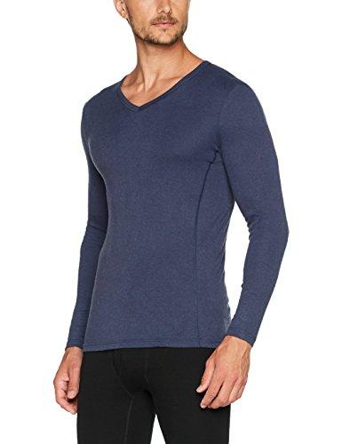 Damart Herren Thermounterwäsche-Oberteil T-Shirt Manches Longues Thermolactyl Bioactif Blau (Indigo)