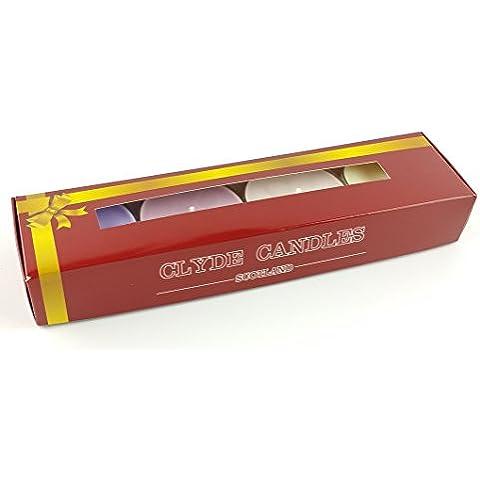 Scottish Collection 4 grandi candeline profumate, confezione