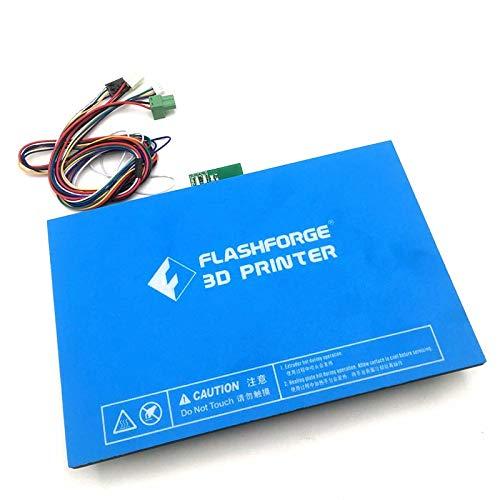 Flashforge Creator pro/Dreamer Impresora 3D con calefacción cama con cable  extendido de adhesivo de plataforma de construcción de aluminio