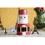 XJoel Jumbo Navidad cocina de acero inoxidable hermético frasco redondo clásico del tarro de Santa Claus