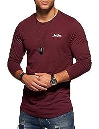 JACK & JONES Herren Langarmshirt Oversize Longshirt O-Neck