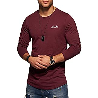 Jack Jones Camiseta de Manga Larga T-Shirt Longsleeve Shirt Top Streetwear