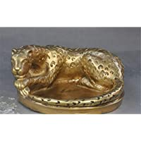 ALILEO Christmas Chinese Feng Shui Brass Ferocious Leopard Beast Statue Ashtray Halloween