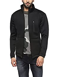Proline Mens Zip Through Neck Solid Jacket
