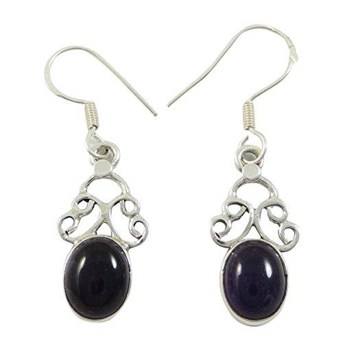 925 Sterling Silber Amethyst Ohrringe Baumeln Lassen Für Ihre Online-Schmuck-Geschenk Kaufen