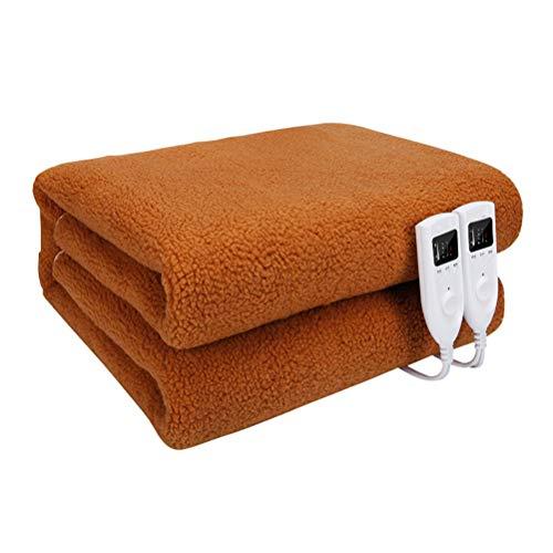 Dbtxwd Beheizte Heizdecke - Intelligente Temperaturregelung, Timer, Überhitzungsschutz,Brown,1.8 * 1.6M - Voll Xl Matratze Pads