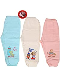 Guru Kripa Baby Products Presents Premium Export Quality Just New Born Baby Bottoms Pajamas 0-3 months 100% Cotton Housiry Lower With Soft Ribbed For Baby Girl And Boy Unisex Lower Set of 3