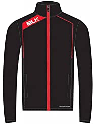 BLK Rugby Veste de survêtement Noir/Rouge
