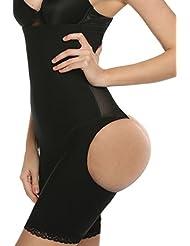 Ekouaer Butt Lifter Shaper Taille und Oberschenkel Shaper Erweiterer Boyshorts Unterwäsche