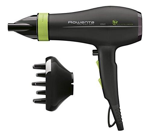 Rowenta cv6030e0 instant dry phon asciugacapelli, con diffusore, tecnologia eco intelligence, 6 impostazioni di asciugatura